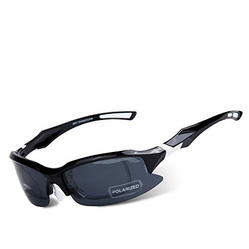 HCCX Fietsen Zonnebril - Outdoor gepolariseerde bril - PC - Kleurplaten, One-Piece Design - Impact Resistance - Geschikt voor Fietsen Running Mountaineering Rijden