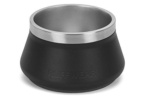 Ruffwear Edelstahl Hundenapf, One Size, Fassungsvermögen: 1,2L, Schwarz (Obsidian Black), Basecamp Bowl