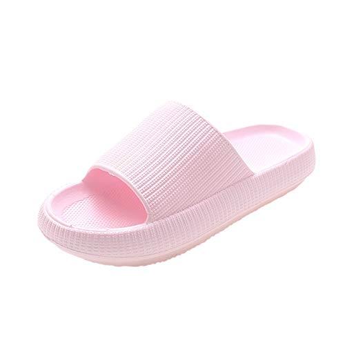 Unisex Badeschuhe Damen Slides Sandalen Hausschuhe Herren Sommer Garten Badelatschen rutschfest Plattform Badeschlappen Unisex-Erwachsene Damen Herren Sandalen Weich rutschfeste Badeschuhe Hausschuhe
