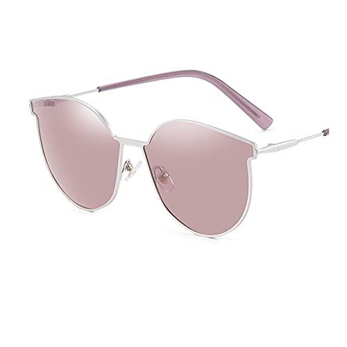 HBR Gafas de Sol polarizadas para Hombres y Mujeres Retro Aviator Square Goggle Clásico Estilo Redondo 100% UV Gafas de Sol Accesorios de Moda (Color : E)
