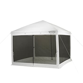 Wenzel Smartshade Screen House White 10 Foot x 10 Foot Pop Up Screenhouse for Camping Tailgating Festivals Events and More