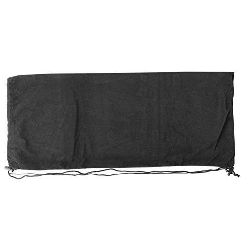 Bolsa grande para taco de badminton de tênis Lioobo, bolsa de armazenamento profissional com cordão para mulheres, homens, raquete de tênis (preto)