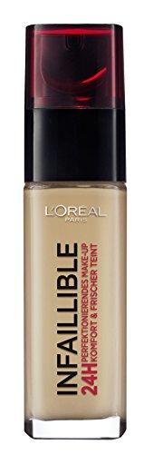 L'Oréal Paris Infaillible 24H Make-up in Nr. 235 Honey, perfektionierendes Flüssig-Make-up mit hoher Deckkraft, 24 Stunden wie frisch geschminkt, 30 ml