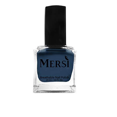 Mersi Cosmetics Breathable Halal Nail Polish Vegan Cruelty-Free (Great Blue Hole)