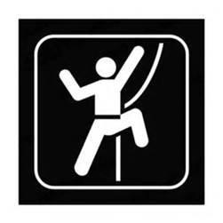 Chase Grace Studio Rock Climbing Sign Rock Climber Hiking Mountains...