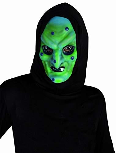 Máscara de brujo malo con capucha.