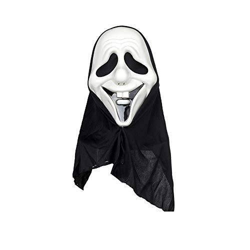 L-H Halloween-Maske, Kostümfest Horror Häschen-Gesicht Lustiger Maske, Black Mesh Kopfbedeckung Leistung Props