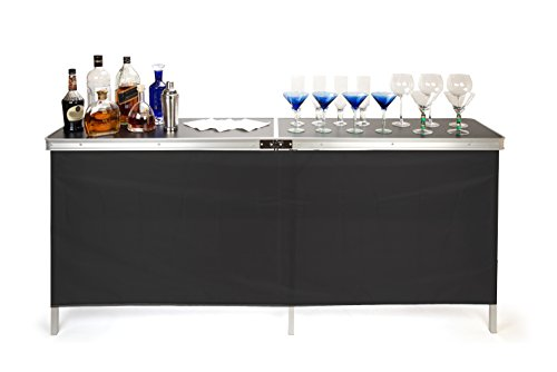 Trademark Innovations Portable Bar Table, Black