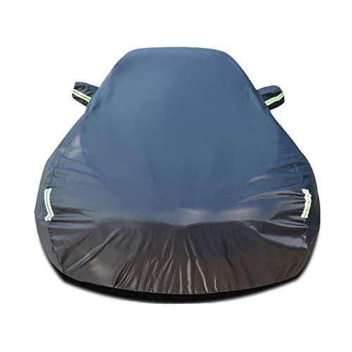 MPZZ Kompatibel mit Porsche Cayenne GTS Coupé Autoabdeckung Mit Baumwolle Wasserdicht Winddicht Flammhemmend Oxford Cloth Outdoor Indoor Autoplane (Color : Black, Size : Cotton)