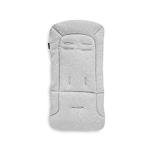 Colchoneta de asiento universal Hauck para sillas de paseo y carros/Algodón/Transpirable/Suave/Fácil de colocar/Verano e invierno/Gris