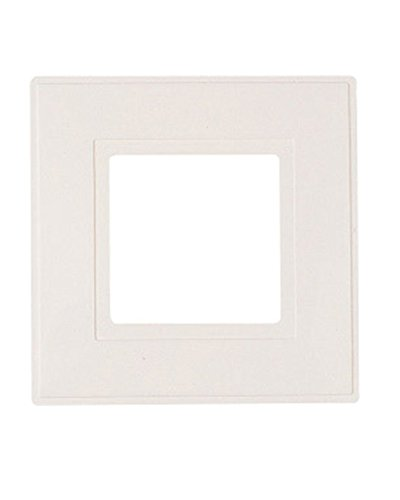 Dencon 8804/2P Light Switch Finger Plate - White (Pack of 2)
