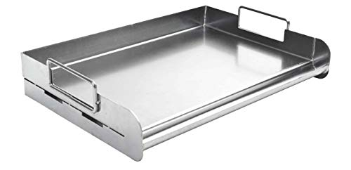 Charcoal Companion CC6305 Stainless Steel Pro Grill Griddle, Silver