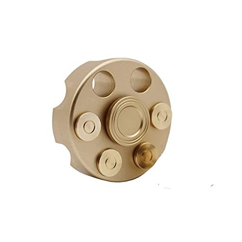 Z-Color Fingertip Gyro Revolver Bullet Clip Bullet High-Speed Rotating Metal Finger Gyro Decompression Toy for Children and Adults Fidget Spinner (Size : A)