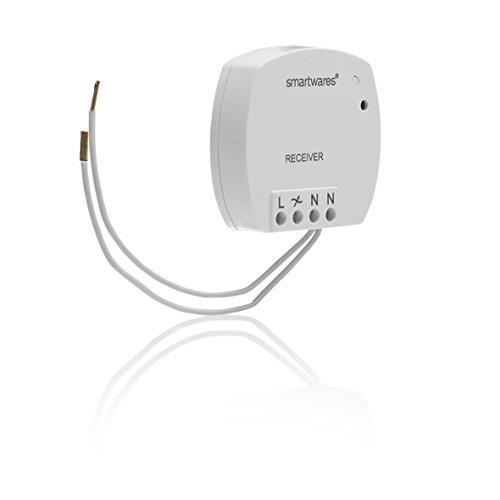 Smartwares SH5-RBD-04A Receptor para Interior con Interruptor Incorporado, 400 W, Blanco