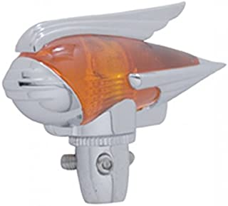 United Pacific C5017A Industries Chrome Antenna Topper - Amber