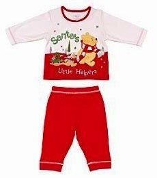 Disney-Winnie l'Ourson-Pyjama noël bébé en tissu pour nouveau-né