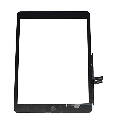 Smartex® Touch Screen Glass Digitizer SCHWARZ kompatibel mit iPad 7 2019 (A2197 A2200 A2198) - Home Button, Aufkleber & Werkzeugset inklusiv