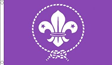 Scouts movimiento morado 100/% Material del poliester bandera de la bandera Ideal para la escuela negocios dreammadestudio Pub Club 150 x 90 cm 152,4 cm x 91,44 cm