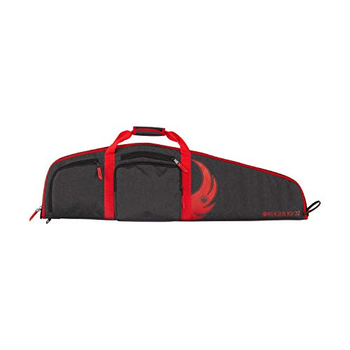 Ruger Cottonwood 40 inch 10/22 Gun Case, Rifle Case by Allen, Black and Red