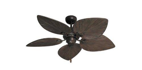 "Bombay Tropical Ceiling Fan in Oil Rubbed Bronze 42"""