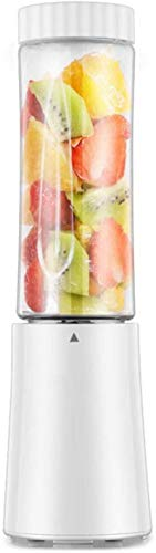 TXOZ Portable Blender, Personal Mixer, Mini Blender for Smoothie, Fruit Juice, Milk Shakes 250ml, BPA Free, 4 3D Blades for Great Mixing (Color : White)