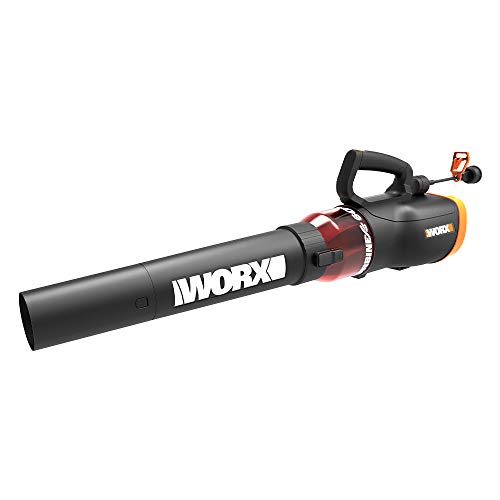 Worx Turbine 12 Amp Corded Leaf Blower with 110 MPH and 600 CFM Output and Variable Speed Control – WG520