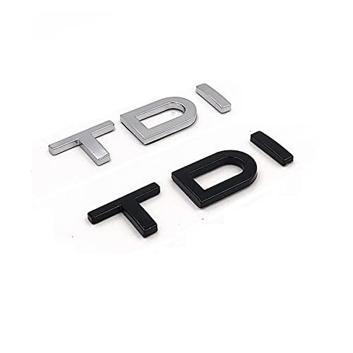 WJL Lettere Nere di Cromo TDI. Badge del parafango del Coperchio del Tronco Emblems Badge dell Emblema Adatto per Audi A3 A4 A5 A6 A7 A8 S3 S4 R8 RSQ5 Q5 SQ5 Q3 Q7 Q8 Q8 Lili (Style : Matte Black)