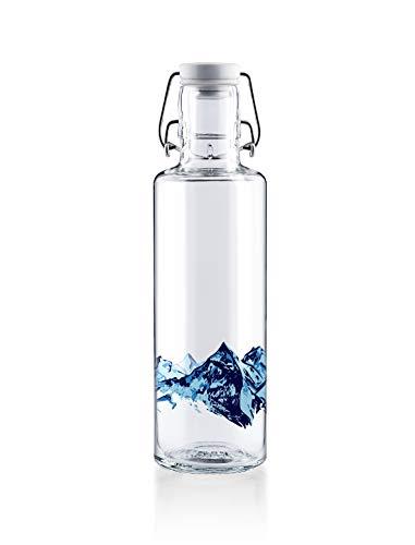 soulbottles 0,6l • Alpenblick • Trinkflasche aus Glas • plastikfrei, nachhaltig, vegan
