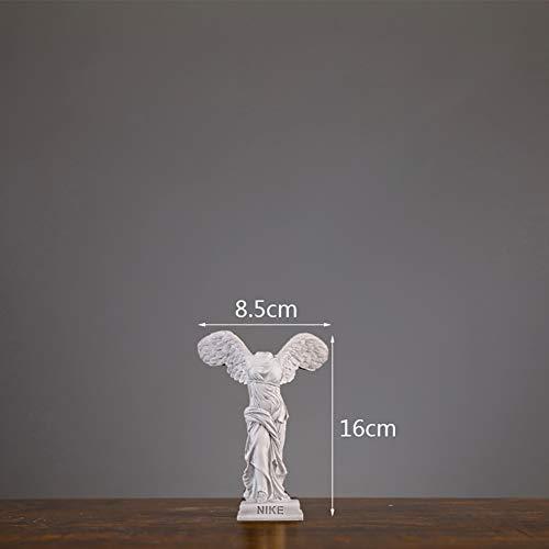 PeiQiH Victoria Alada Estatua,Samotracia Escultura Diosa Griega Figurine Hermosa Figura para Casa Y Oficina Decoración De Escritorio Blanco B 16x8cm(6x3inch)