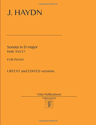 J. Haydn, Sonata in D major, Hob. XVI:37: URTEXT and EDITED versions