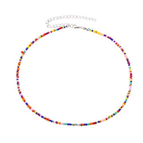 Airlove Hirse Perle Schlüsselbein Kette kreative ethnische Stil Choker Mode Persönlichkeit Bunte Perlen Kette für Frauen Schmuck Accessoires