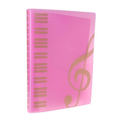 Foglio per spartito musicale, formato A4, da 40 pagine, per archiviare documenti, organizzare la memoria della cartella, per concerto di pianista