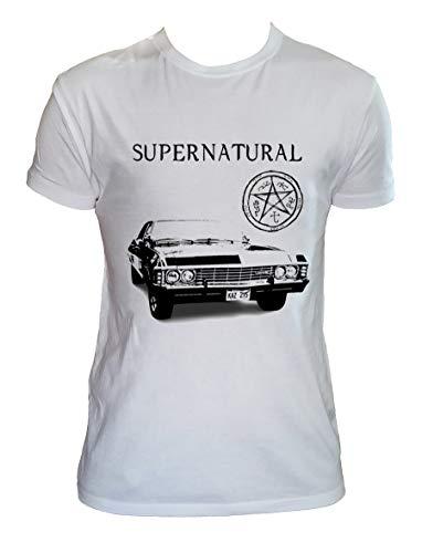Generico T Shirt Supernatural Uomo Bambino Winchester Maglia Supernatural Serie TV, Uomo - S