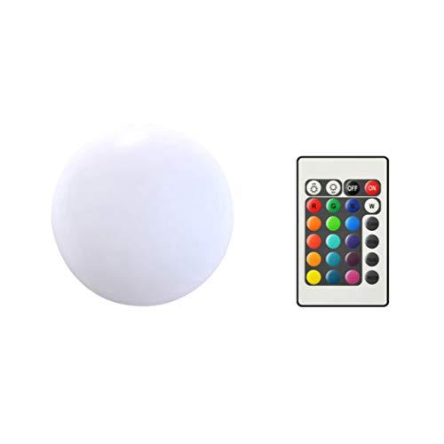 Uonlytech - Lámpara LED con forma de bola (16 colores cambiantes, con mando a distancia, para exteriores, interiores, salones, dormitorios, 12 cm)