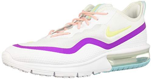 Nike Damen Air Max Sequent 4.5 Traillaufschuhe, Mehrfarbig (White/Luminous Green/Hyper Violet 103), 40.5 EU