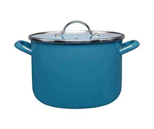 Olla Gusto by Cinsa Kitchenware 24 cm capacidad 8 litros con tapa de vidrio