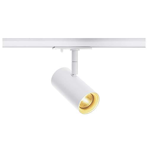 SLV 1 Phasen System Leuchte NOBLO SPOT / Strahler, LED-Spot, Decken-Strahler, Decken-Leuchte, Schienensystem, Innen-Beleuchtung / 2700K 7.5W 620lm weiß dimmbar