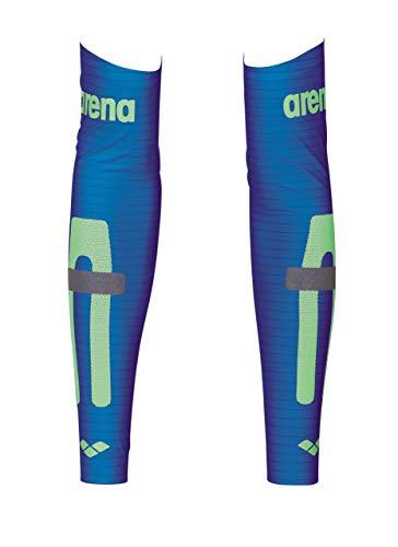 Arena - Mangas de compresión unisex de carbono, color azul eléctrico, XS