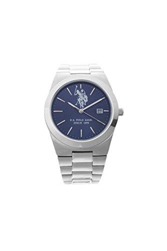 U.S. POLO ASSN. Herren Analog Miyota Uhr mit Edelstahl Armband USP5319BL_Steel