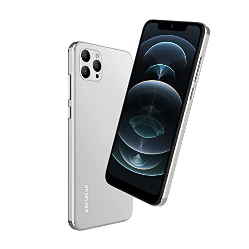 4G Moviles Libres Baratos, Pantalla 6,3 Pulgadas, 32GB/64GB ROM, 3GB RAM, Android 9.0 Smartphone Libre, 4600mAh Batería, Smartphone Barato Dual SIM, 8MP Face ID Moviles Baratos y Buenos (Blanco)
