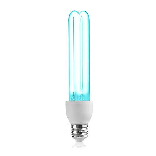 Bonlux UV Desinfektion Lampe E27 E26 25W Quarzrohr Brine Sterilisation UVC 254nm mit Ozon 360°Abstrahlwinkel Entfernung Mites (1 Stück)