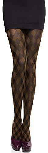 Merry Style Damen blickdichte Strumpfhose MS 317 60 DEN (Cappuccino, M (36-40))
