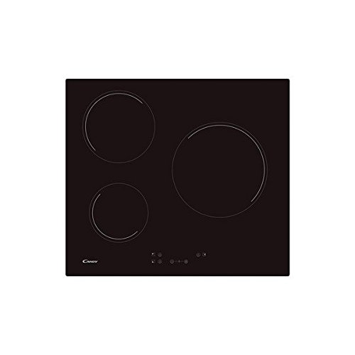 Eurroweb kookplaat, keramiek, 60 cm, 3 kookzones, zwart