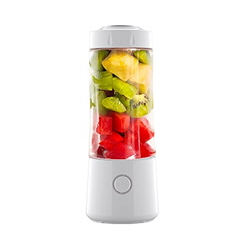 YLLYLL Portable Juicer Machine USB Electric Fruit Smoothie Blender Mixer for Mini Personal Food Processor Juice Extractor Gym - Perfect Travel Partner (Color : White)