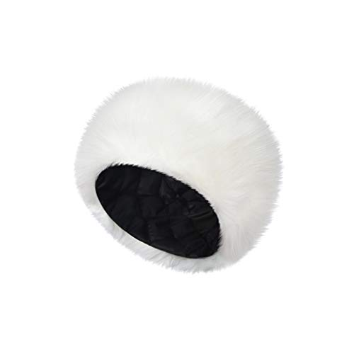 Dasongff Damen Pelzmütze Cossack Russische Mütze Fluffy Fellmütze Mütze Wintermütze Faux Fuchs Pelz Stirnbänder Hut Damenmütze Warmer Kopfband Outdoor