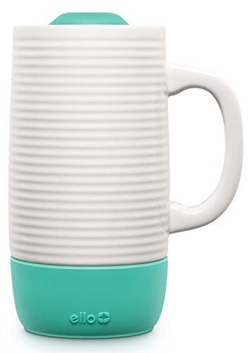 Ello Jane Ceramic Travel Mug with Slider Lid, 18 oz, Mint
