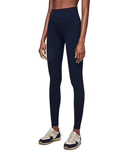 Lululemon Align Stretchy Full Length Yoga Pants - Women's Workout Leggings, High-Waisted Design, Breathable, Sculpted Fit, 28 Inch Inseam, True Navy Blue, Size 10