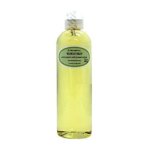 Aceite de nuez Kukui orgánico prensado en frío 100% puro 24 oz