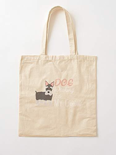 Is Walking Gift Walker Lover Groomer This Dog My Sitter Tote Cotton Very Bag | Bolsas de supermercado de lona Bolsas de mano con asas Bolsas de algodón duraderas