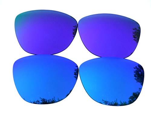 Galaxylense lentes de repuesto para Oakley Frogskins azul y morado Color Polarizados 2 Pares - azul y morado